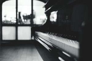 A piano in the room