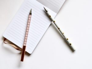 image of paper and pens.