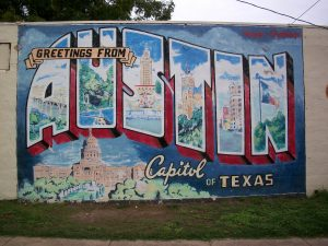 A wall showing a graffiti of Austin, TX, one of the best cities for startups