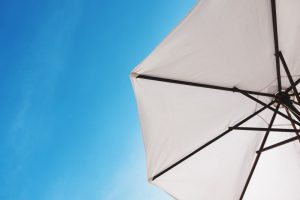 A sunshade umbrella.