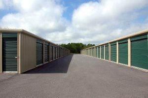 Outdoor storage is secured with one hard lock only so it's not recommended for storing valuable items.