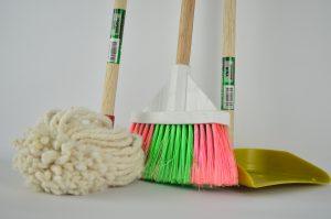 Broom, ragpicker, mop
