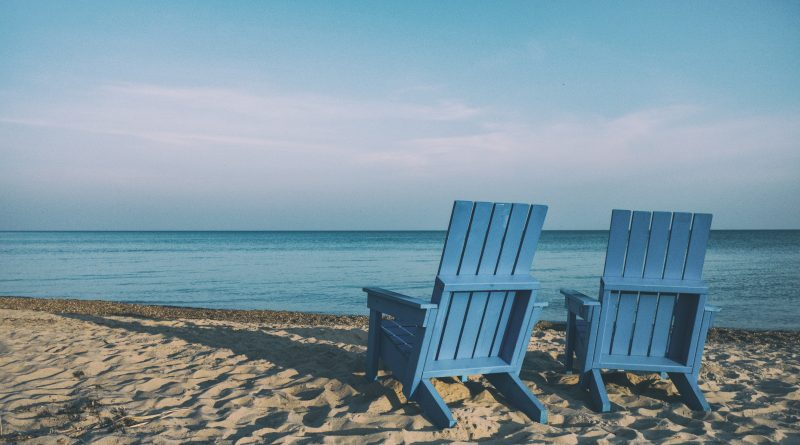 two chairs on a beach