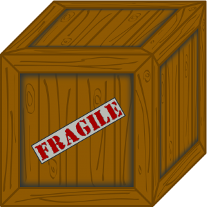 box with a label 'fragile'