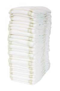 Diapers that are necessary to be near you when moving with a baby.