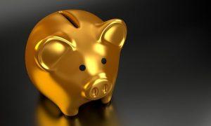 A golden piggy bank.