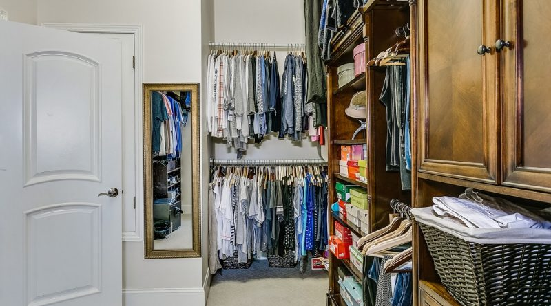 A closet full of items.