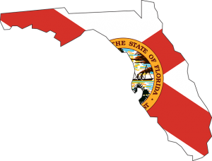 Florida map of coastal towns in Florida for water sports.