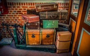 Old bags and various luggage.