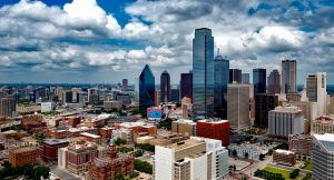 A view of Dallas which is one of the top boomtown cities in Texas.