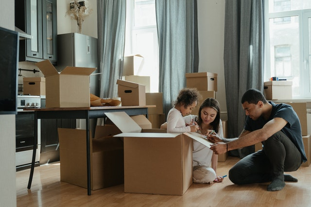 Packing before moving to Monterey with your family.