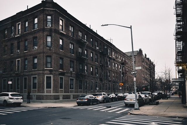 A street on one of the NYC neighborhoods.