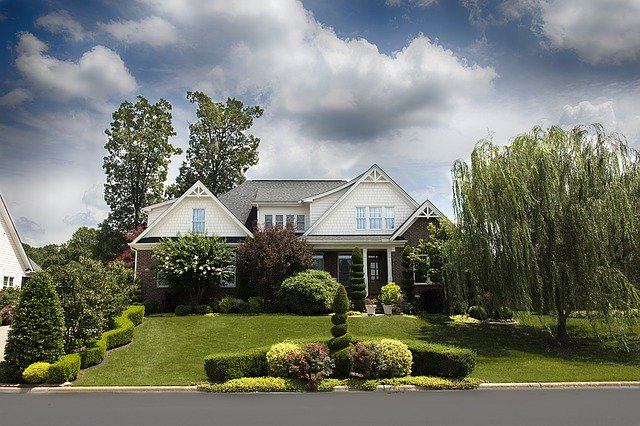 A large and beautiful house like this can be one of the reasons for moving to suburbs.