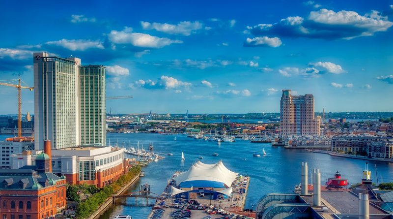 Baltimore skyline as a great choice if you plan to organize your Maryland move in no time.
