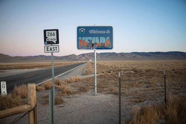A Nevada road sign.