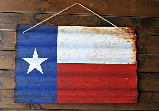A Texas flag.