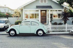 House, car.
