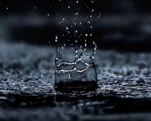 Drop of rain.