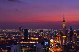 Night lights of Kuwait city.