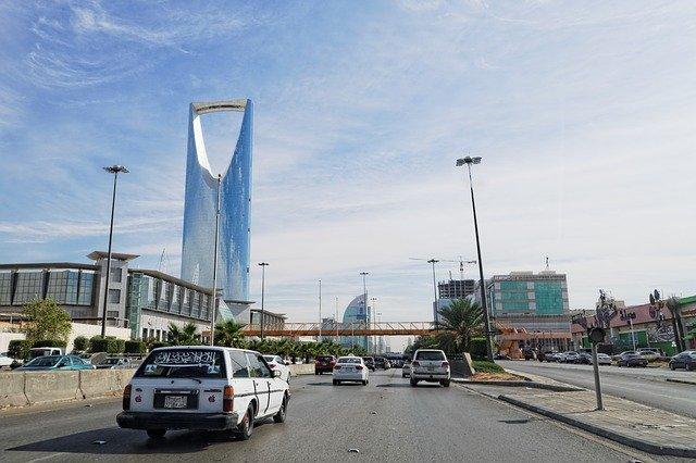 A street in Saudi Arabia.