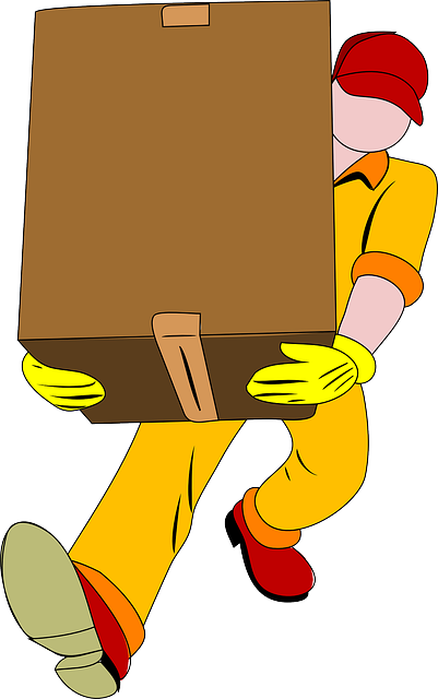 Carrying a box.