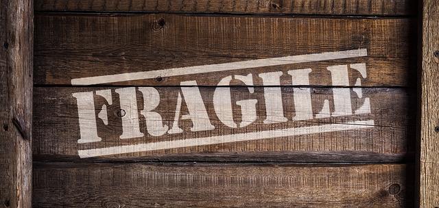 A box with fragile items.