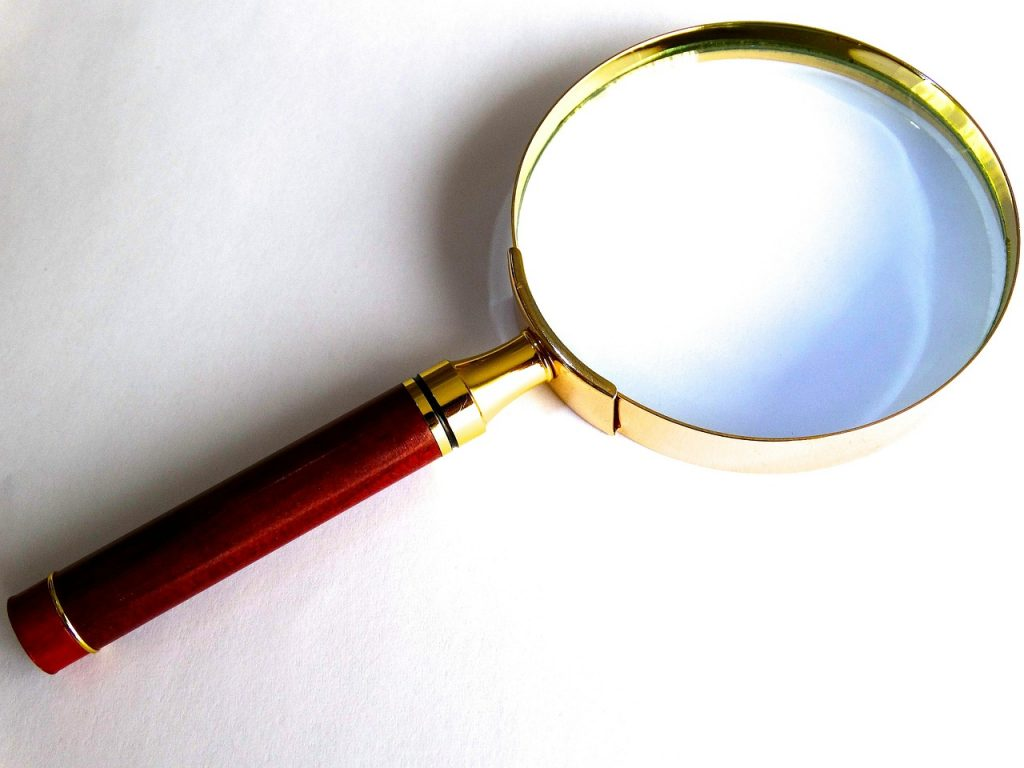 A magnifying glass.