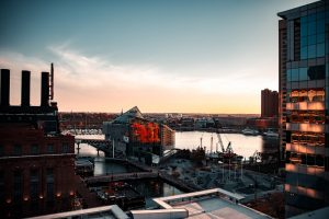 Inner Harbor overview, Baltimore, Maryland