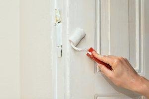 Door painting.