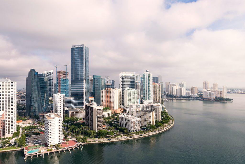 an areal image of Miami, Florida