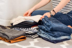 packing clothes before using plastic bins when moving locally